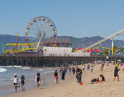 Santa Monica State Beach . March 28, 2021