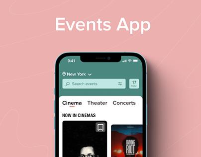 Events App - UX/UI Case Study