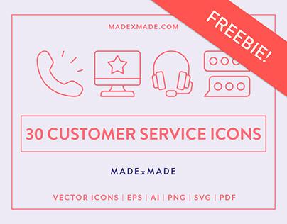 FREEBIE | Line Icons – Customer Service