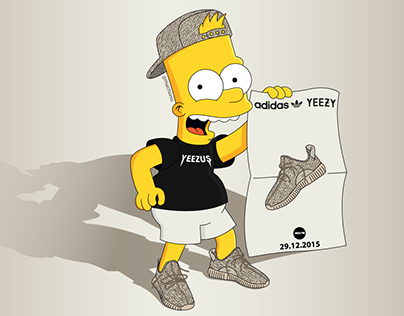 Bart Simpson x Yeezy Boost 350 Oxford Tan