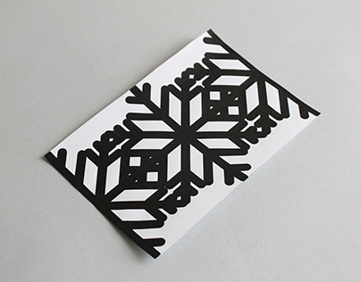 Christmas Card / gocco printer
