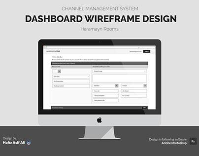 Wireframe Design for Channel Management System