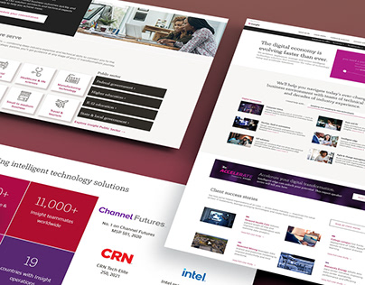 Solutions and Services Landing Page