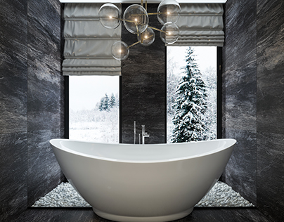 Interior design of bathroom| Lviv | WhiteLineDesign