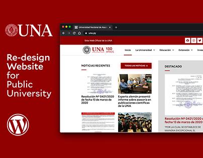 UNA / Rediseño de sitio web de una universidad
