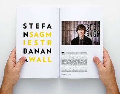 Stefan Sagmiester Magazine Layout
