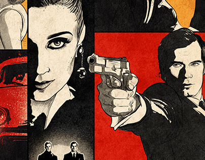 Warner Bros The man from U.N.C.L.E. poster design