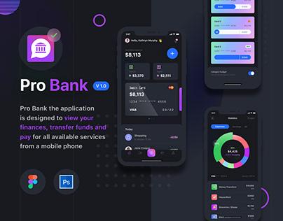 Mobile app PRO BANK | Russia, UX / UI