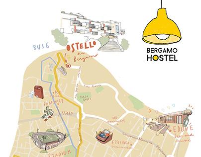 Bergamo Hostel - City map
