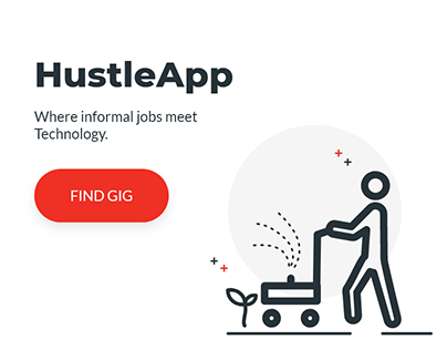 HustleApp UI design