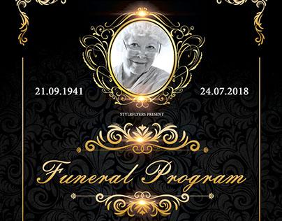 Funeral Program FREE Flyer PSD