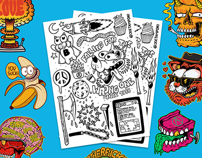 Free coloring page - Illustration doodle project