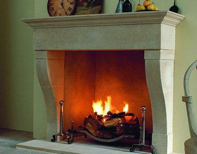 Marseilles Marble & Limestone Fireplace Mantel