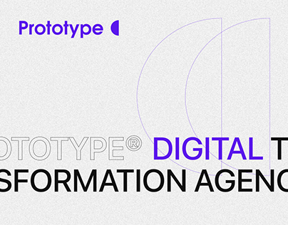 Prototype digital agency website