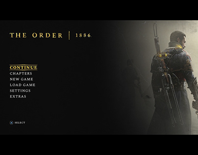 The Order 1886 - Main menu redesigned