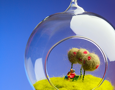 Photography: Felted Terrarium Worlds