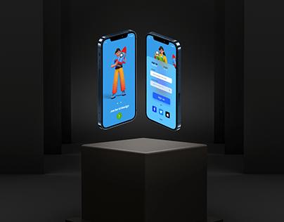 3D App and Website Design (Free Hand Mockup 3D)