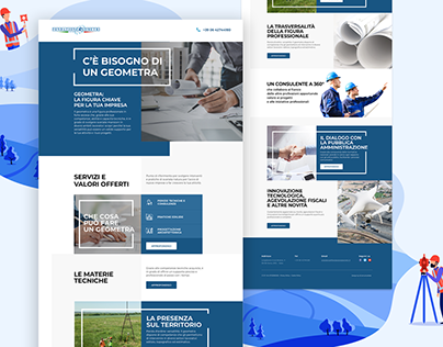Homepage concept land surveyor