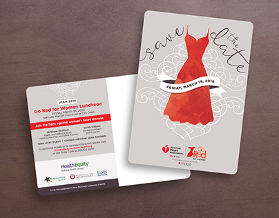 American Heart Association Go Red Save the Date