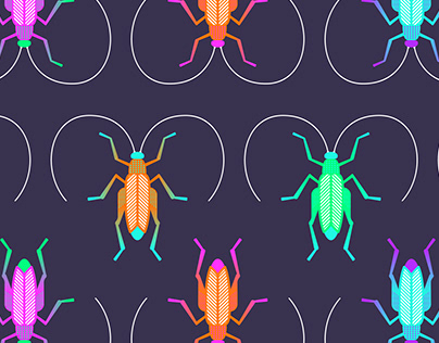 Grasshoppers Illustration & Pattern Design