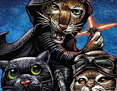 Lights! Camera! Kitties! Part II postcard set