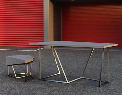 Diamond Table & Chair