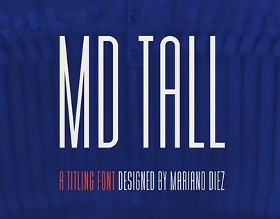 MD Tall | Free font