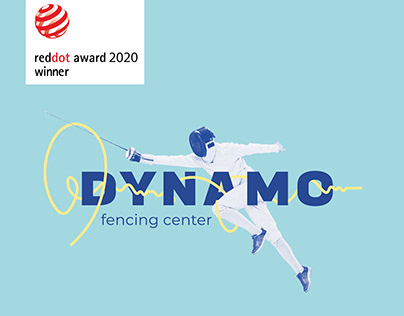 Dynamo Fencing Center brand identity