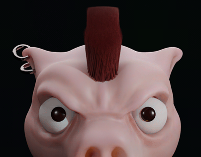 Punk Pig, by Alimpo