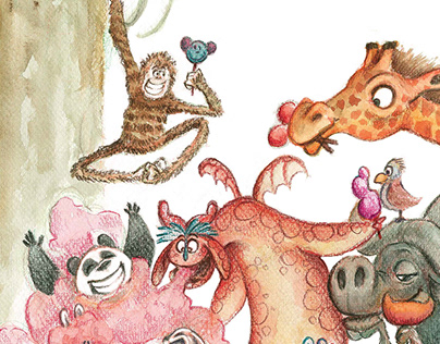 The Candy Dragon ( Picture book )