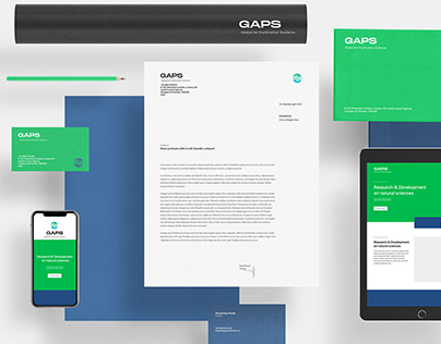 Visual identity GAPS (Global Air Purification Systems)