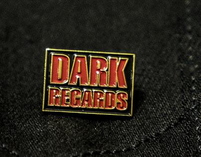 Dark Regards enamel pin