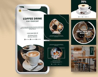Coffee Shop Instagram Feed & Stories