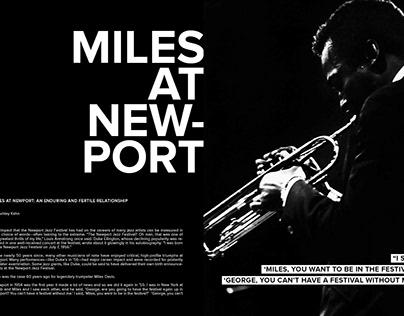 Miles at Newport - Book Design