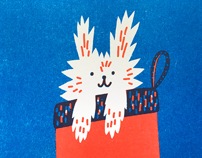 Christmas risoprint postcards