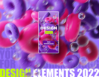 Abstract Objects - 3D Art PNG