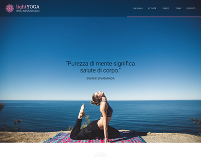 LightYoga Wellness Studio - website
