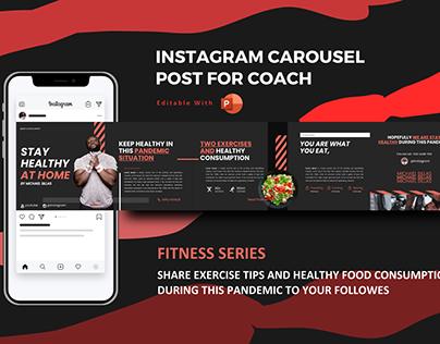 Fitness trainer instagram carousel design