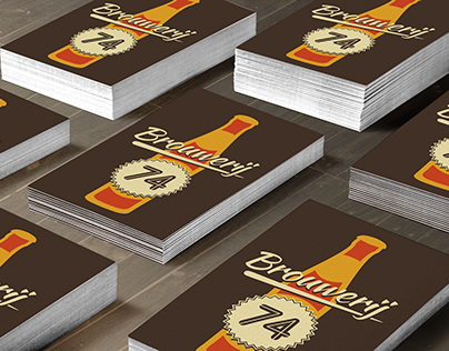 Design for Dutch Brewery, business cards and beerlabels