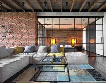 Inspiring loft by martin architects on behance - Loft industriel martin architectes kiev ...