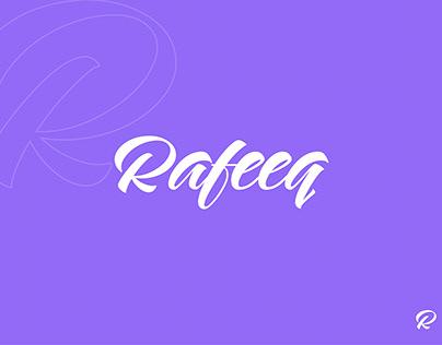Rafeeq Wordmark Logo Design