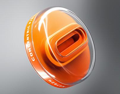 electric revolution knob design [maya, arnold]