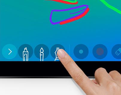 Application iPad • Livre d'or interactif