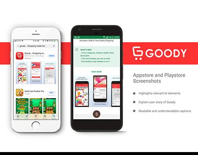 Visual Design for Goody App Store Screenshots