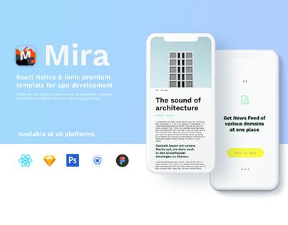 Mira – Pemium Mobile App UI Kit