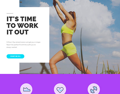 Homepage - Fitness - page