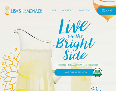 Lisa's Lemonade Website Concept