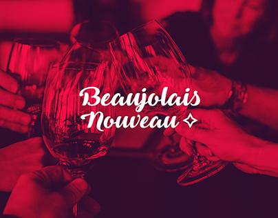 Beaujolais Nouveau - visual identity and label design