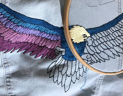 The Eagle has landed // Embroidery Power