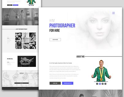 Photographer Portfolio Website | Free PSD
